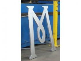 """1"""" Lasered Aluminum -M- Sign"""