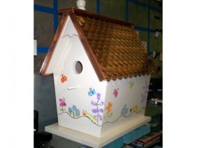 Copper Roof Bird House