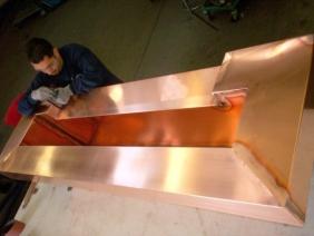 Welded Copper Water Fall
