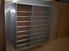 Stainless Steel Louver with Mesh Screen