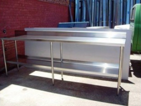 Stainless Steel Table with Bottom Shelf
